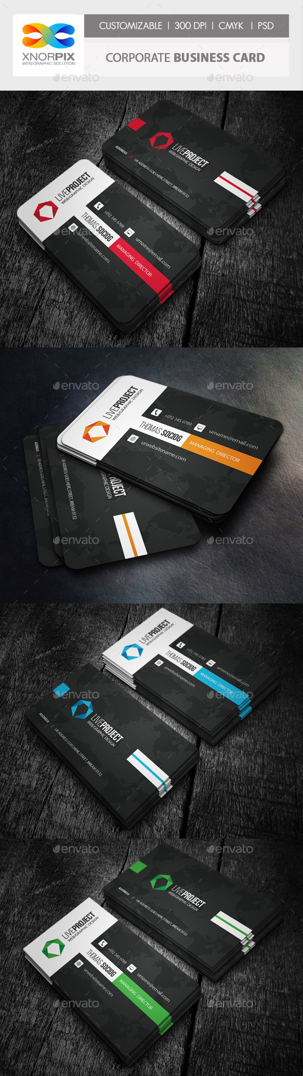 GraphicRiver Corporate Business Card 10007399