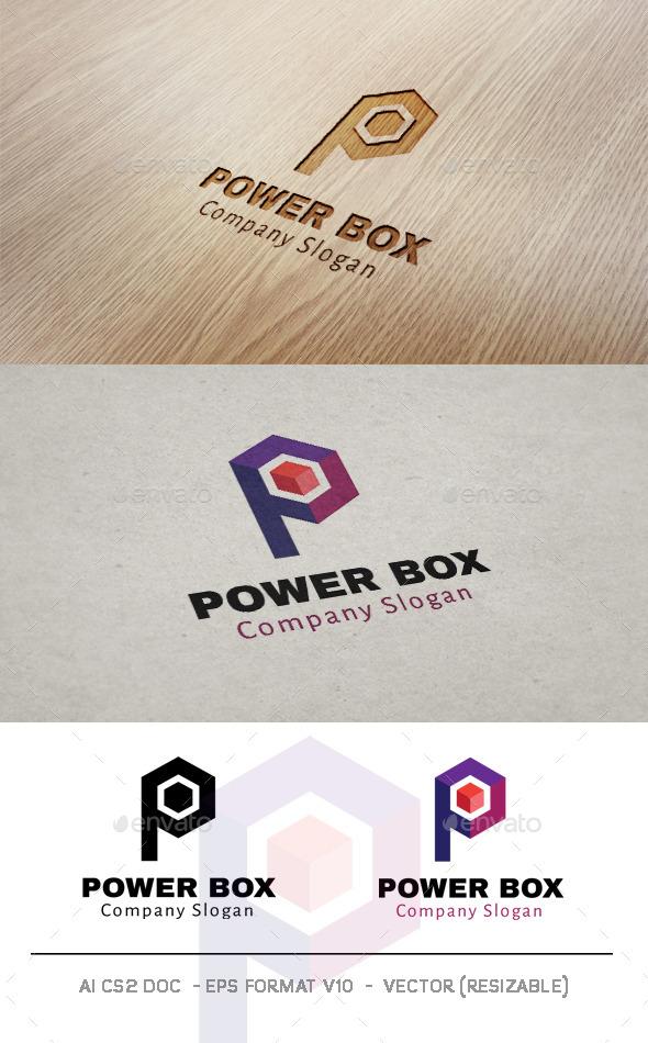 GraphicRiver Power Box Letter P Logo 10007468