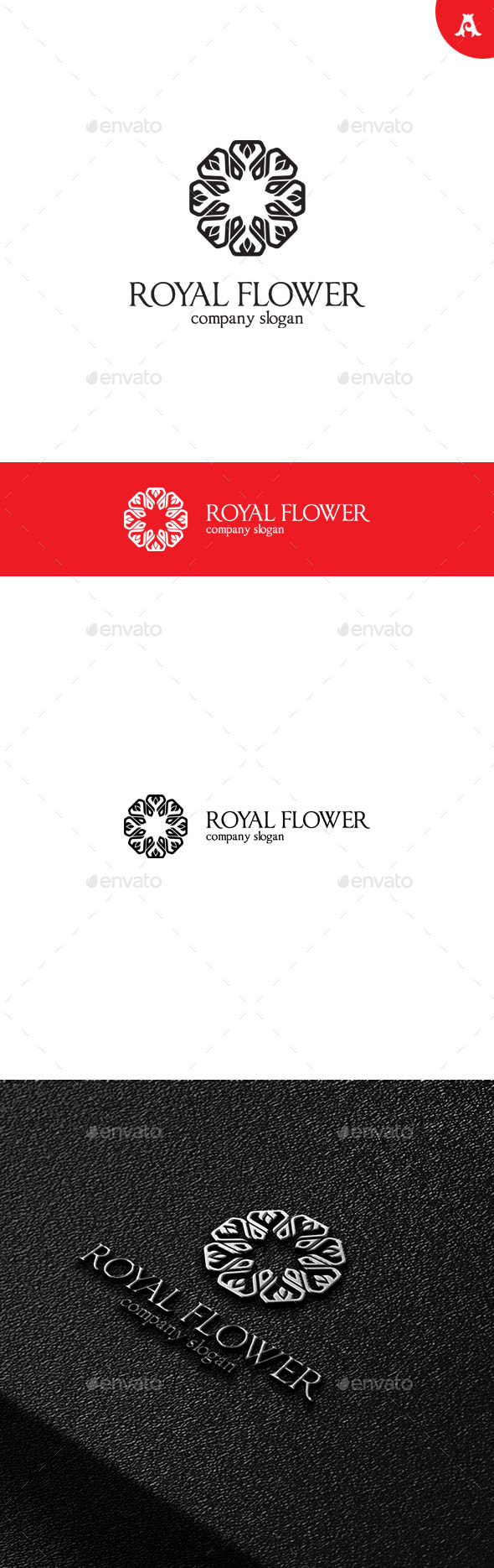 GraphicRiver Royal Flower V2 Logo 10007509