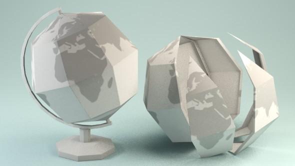 3DOcean Paper Globe 10007894