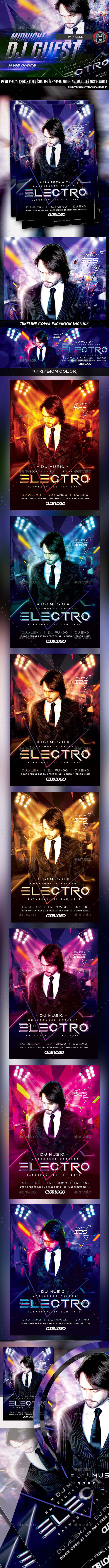 GraphicRiver DJ ELECTRO GUEST FLYER 10007895