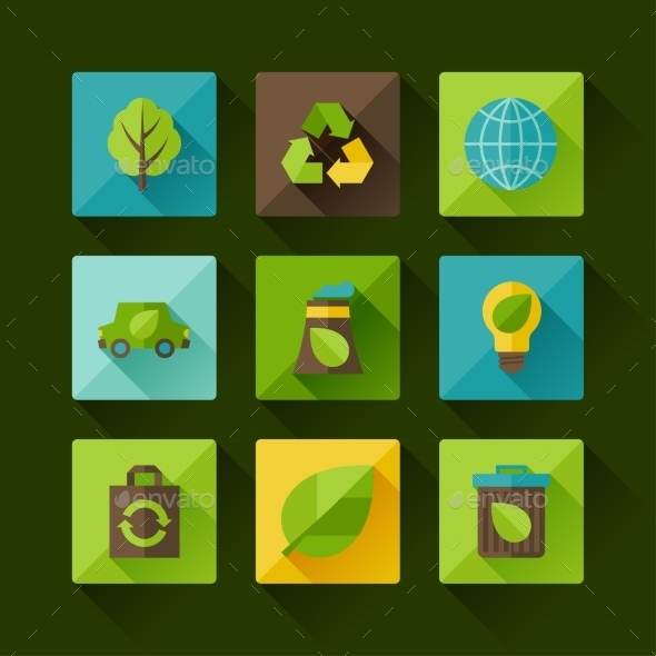 GraphicRiver Ecology Set 10007939