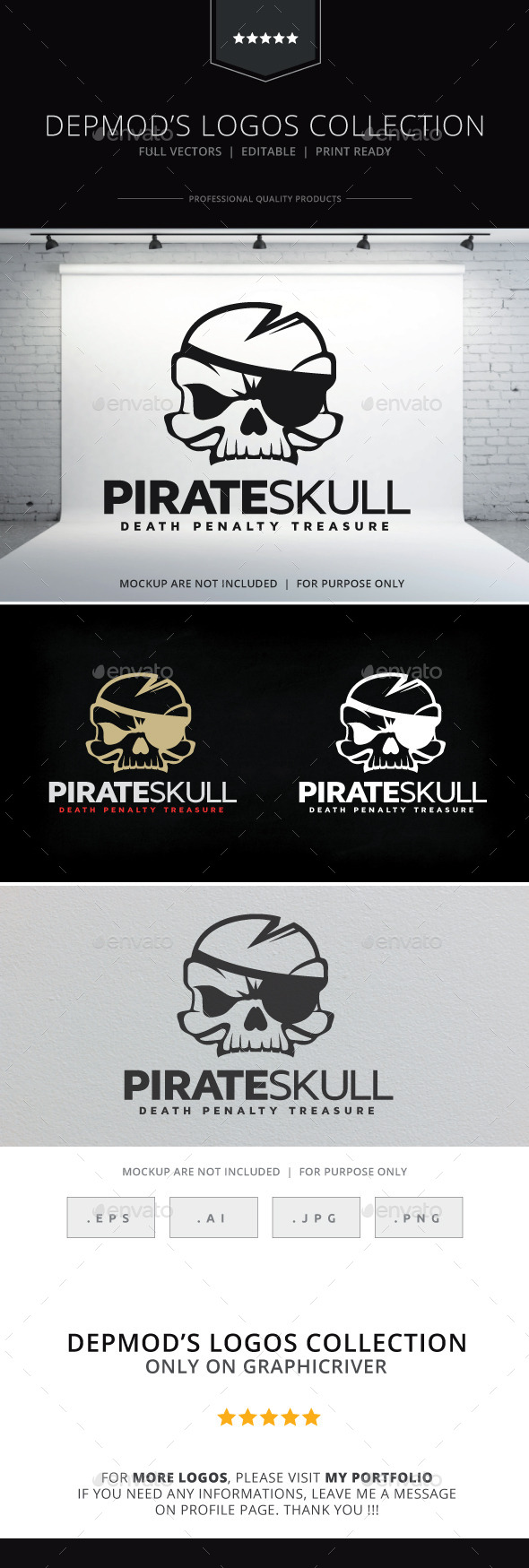 GraphicRiver Pirate Skull Logo 10007946