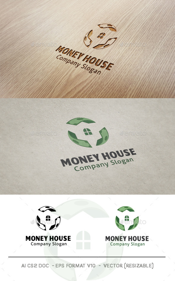 GraphicRiver Money House Logo 10007948