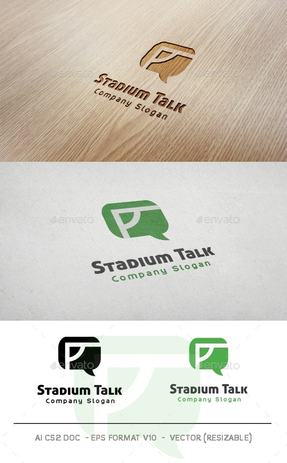 GraphicRiver Stadium Talk Logo 10008070
