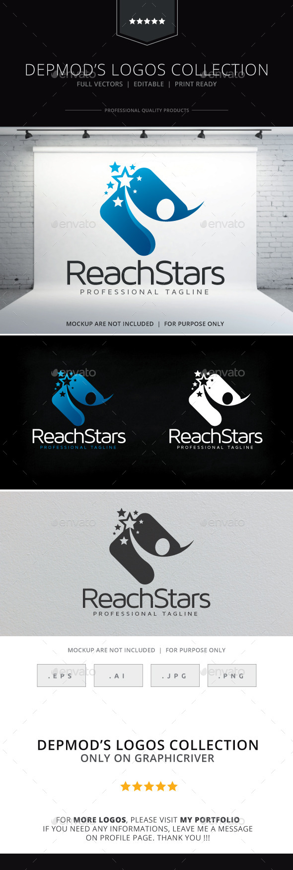 GraphicRiver Reach Stars Logo 10008219