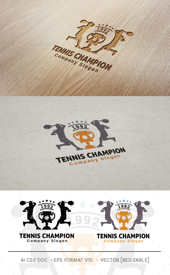 GraphicRiver Tennis Champion Logo 10008335