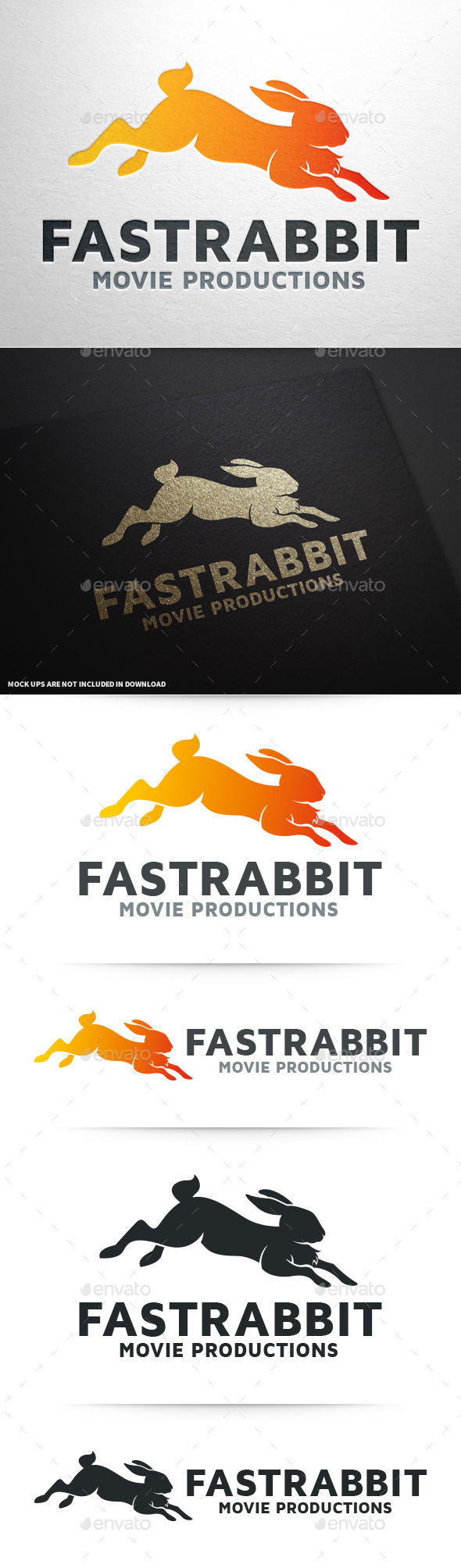 GraphicRiver Fast Rabbit Logo Template 10008733