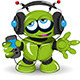 Robot Music Lover - GraphicRiver Item for Sale