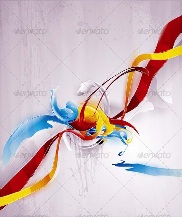 GraphicRiver Abstract vector graphic bright background 126708