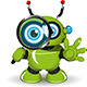 Robot with a Magnifying Glass - GraphicRiver Item for Sale