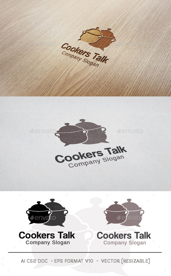 GraphicRiver Cookers Talk Logo 10008874