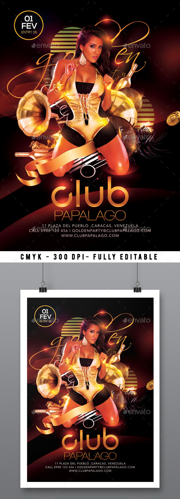 GraphicRiver Classy Retro Modern Golden Party In Club 9994932