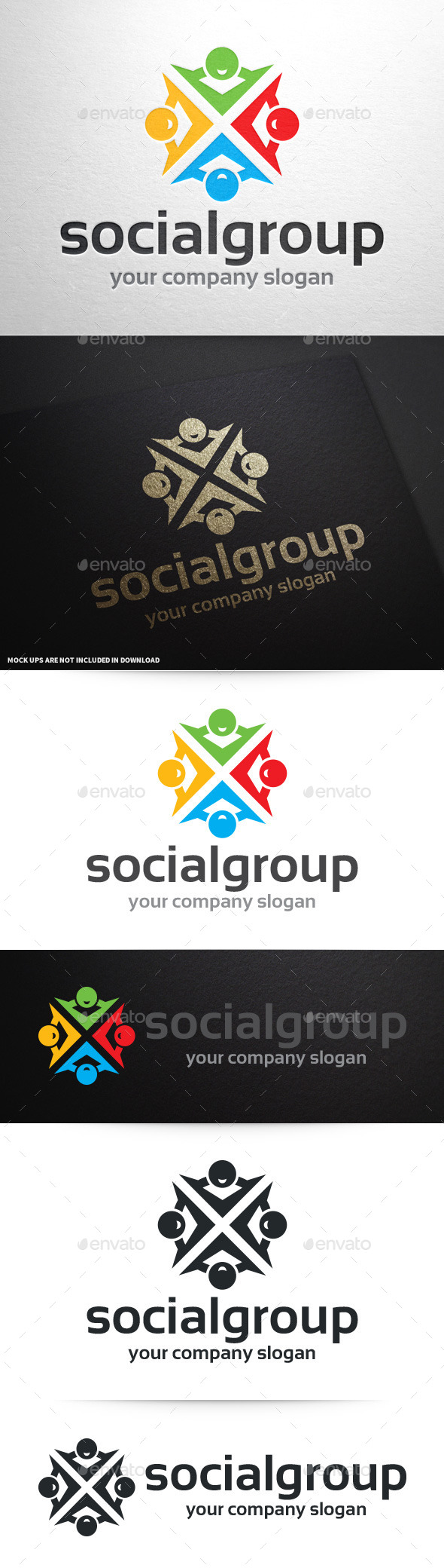 GraphicRiver Social Group Logo Template 10009377