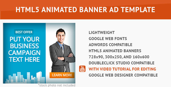 CodeCanyon Corporate HTML5 Animated Banner 3 10009391
