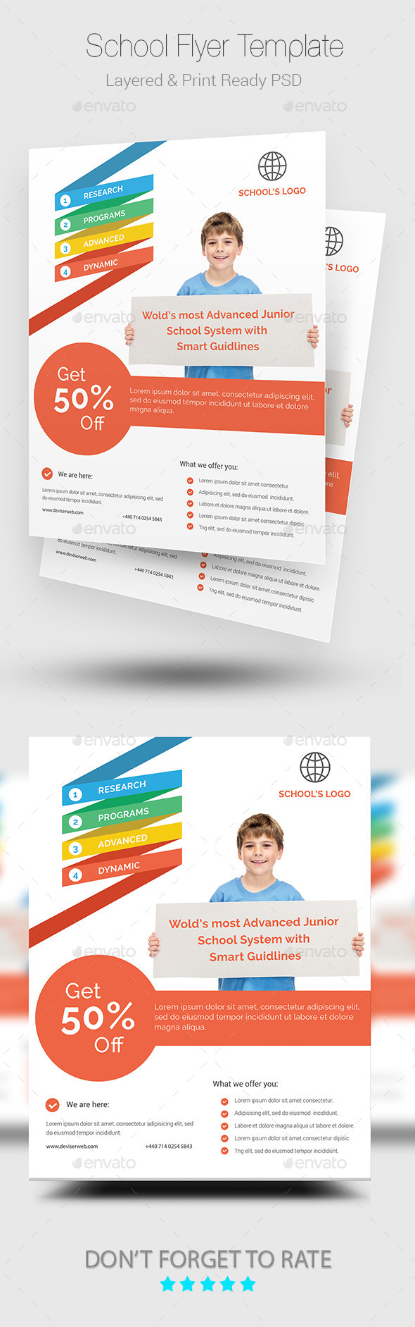 GraphicRiver School Flyer 10009443