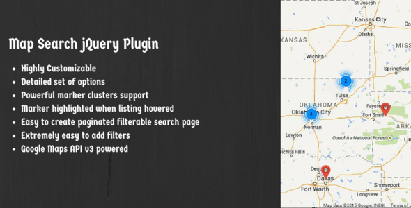 CodeCanyon Map Search jQuery Plugin Using Google Maps API V3 9997319