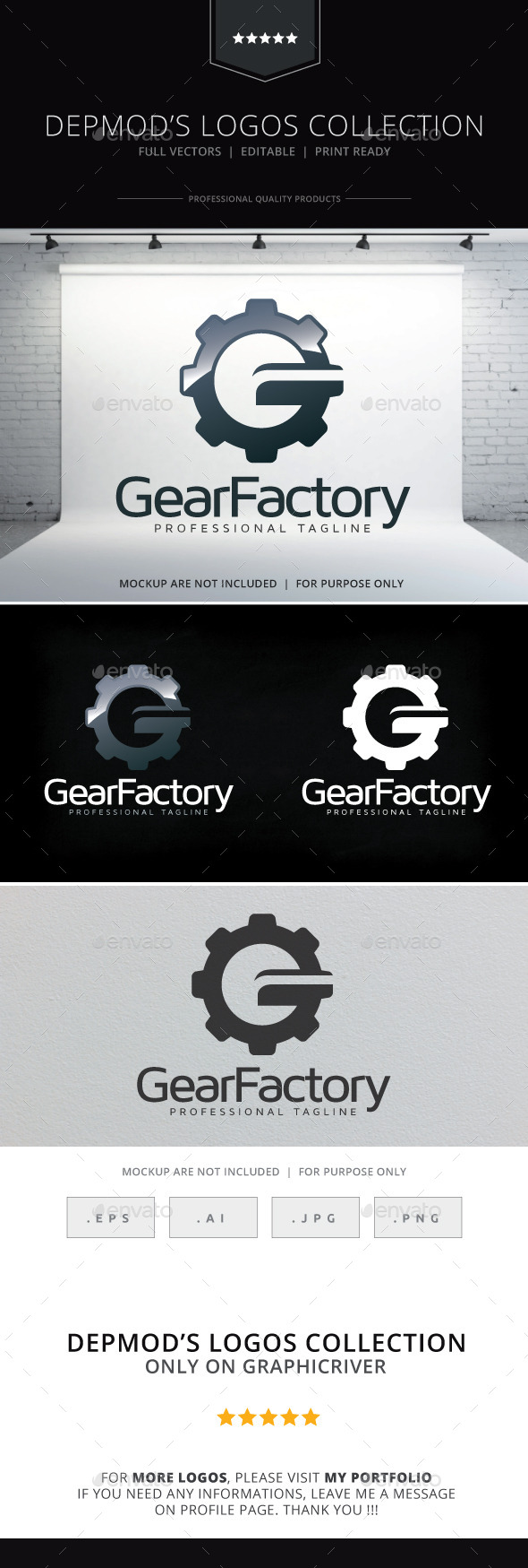 GraphicRiver Gear Factory Logo 10009559