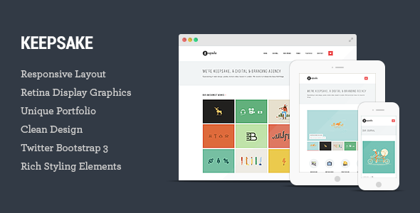 Keepsake - Multipurpose Responsive WordPress Theme