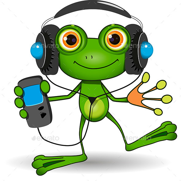 GraphicRiver Frog in Headphones 10009806