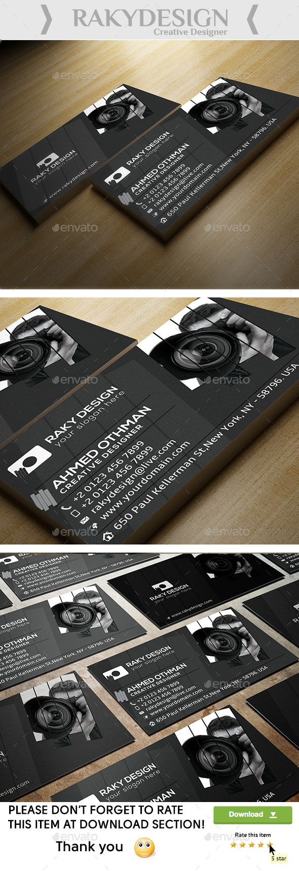 GraphicRiver Photography Card 10009889