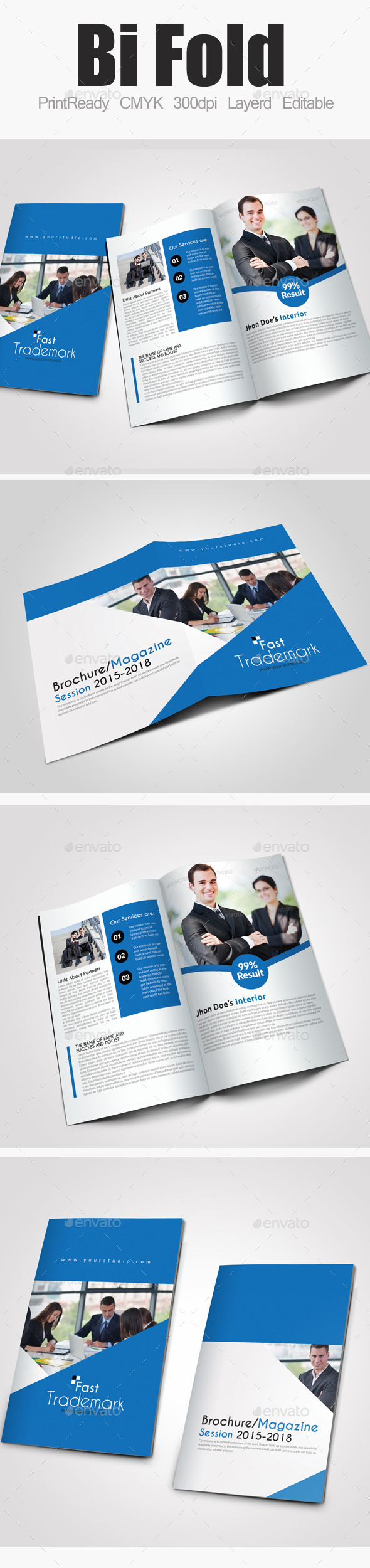 Bi fold business brochure corporate brochures for Bi fold brochure template illustrator