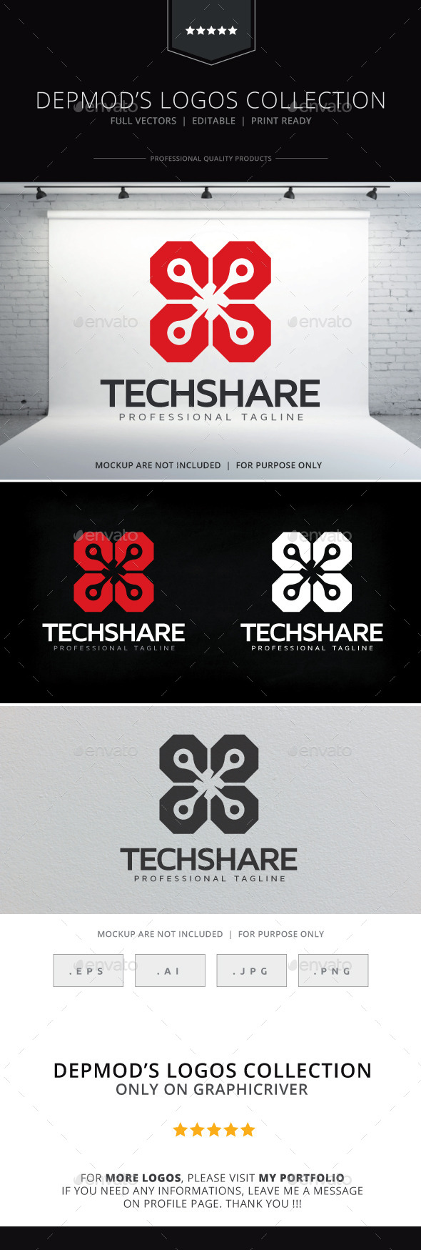 GraphicRiver Tech Share Logo 10010106