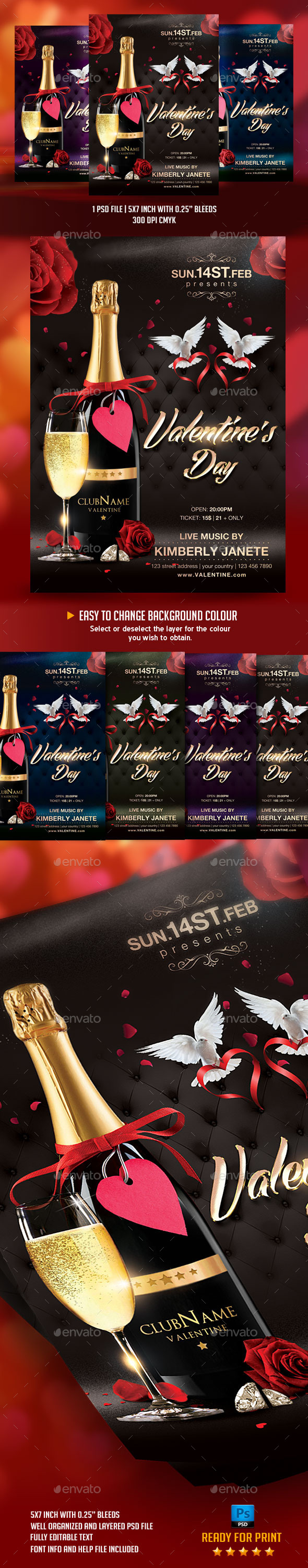 GraphicRiver Valentine s Day Flyer Template 10010175