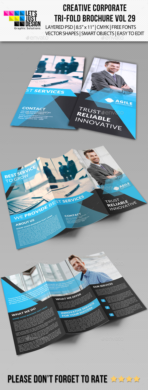 GraphicRiver Creative Corporate Tri-Fold Brochure Vol 29 10010202