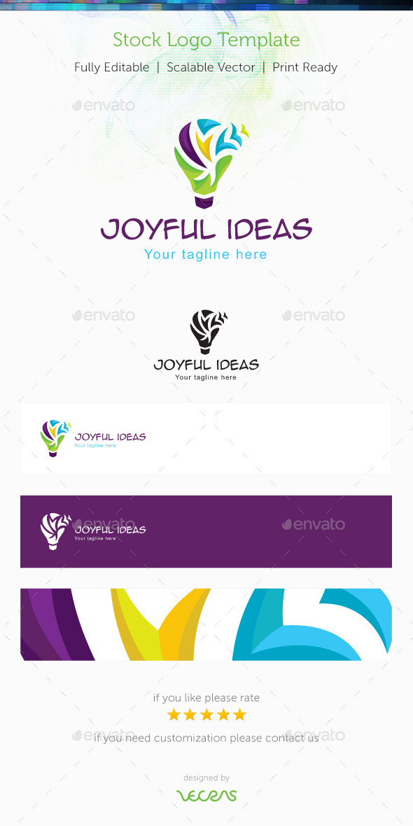 GraphicRiver Joyful Ideas Stock Logo Template 10010301