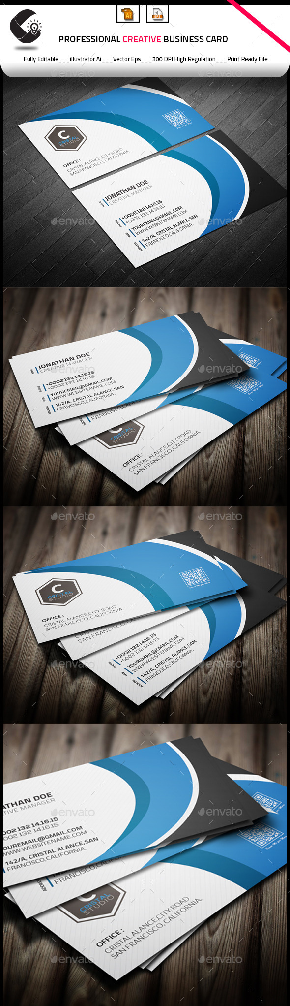 GraphicRiver Minimal Creative Business Card 10010306