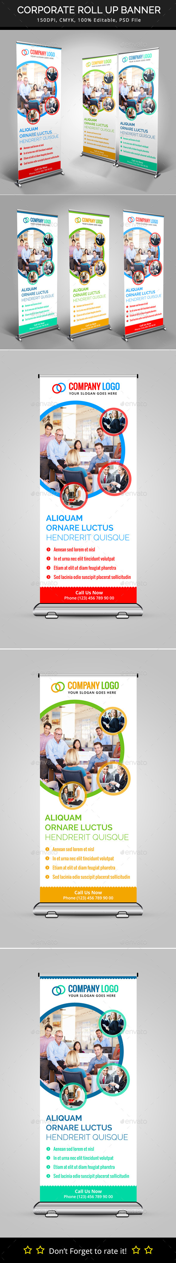 GraphicRiver Corporate Roll Up Banner 10010372