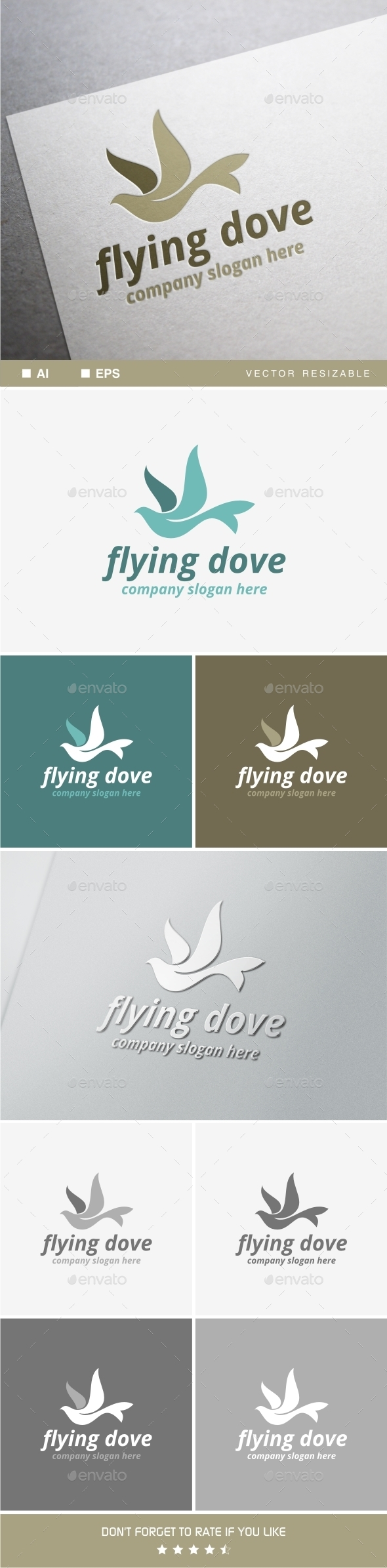 GraphicRiver Flying Dove 10010577