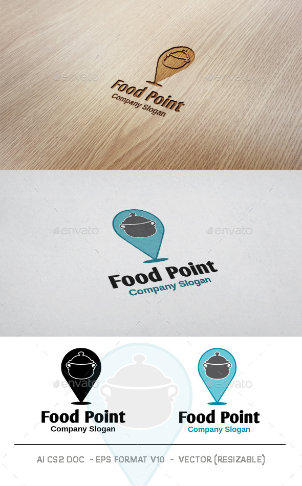 GraphicRiver Food Point Logo 10010759