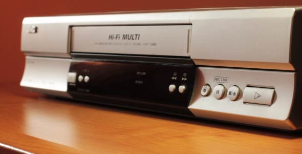 A Video Tape Inserted In The VCR 1