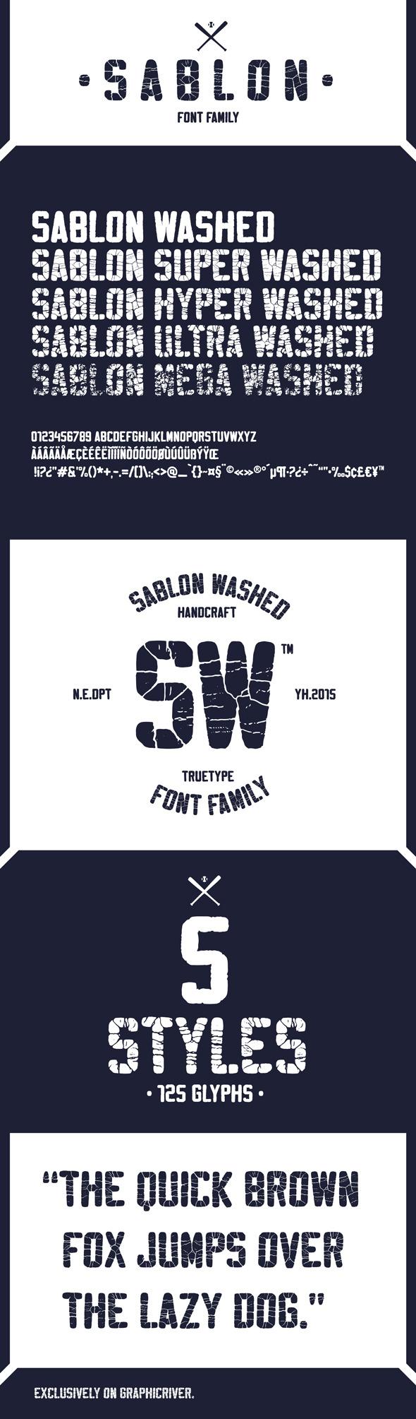 GraphicRiver Sablon Font Family 10010814