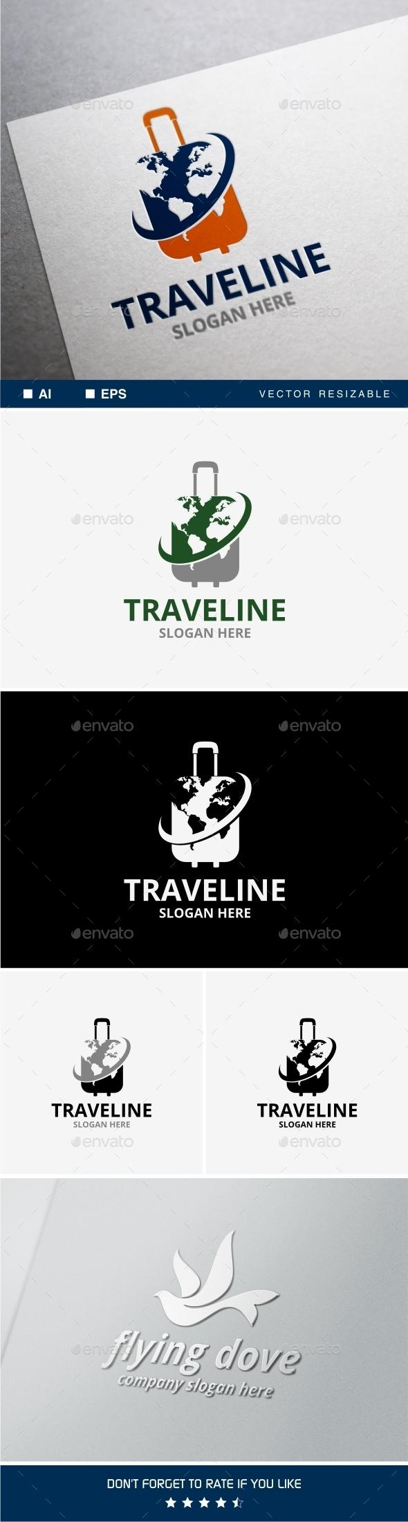 GraphicRiver Traveline Logo 10010830