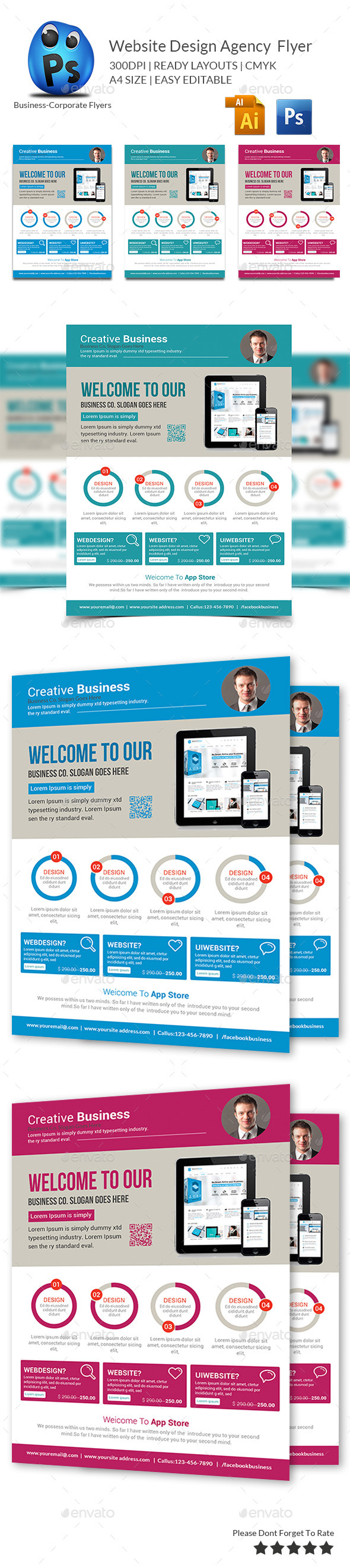 GraphicRiver Website Design Agency Flyer 10010912