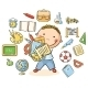 Boy with School Things - GraphicRiver Item for Sale