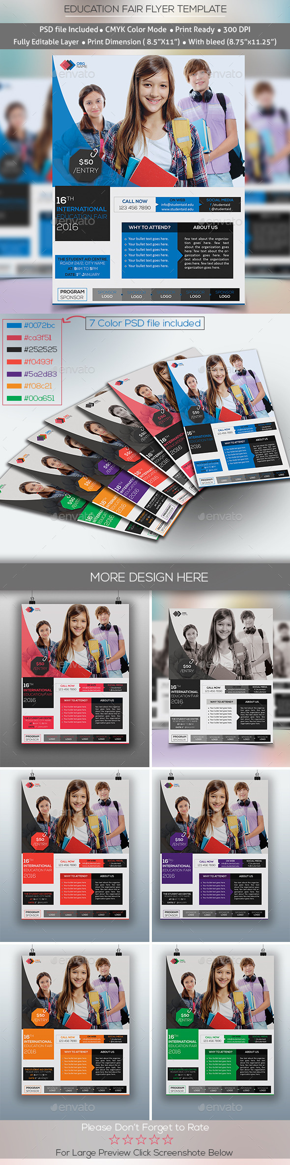 GraphicRiver Education Fair Event Flyer Template 10010936