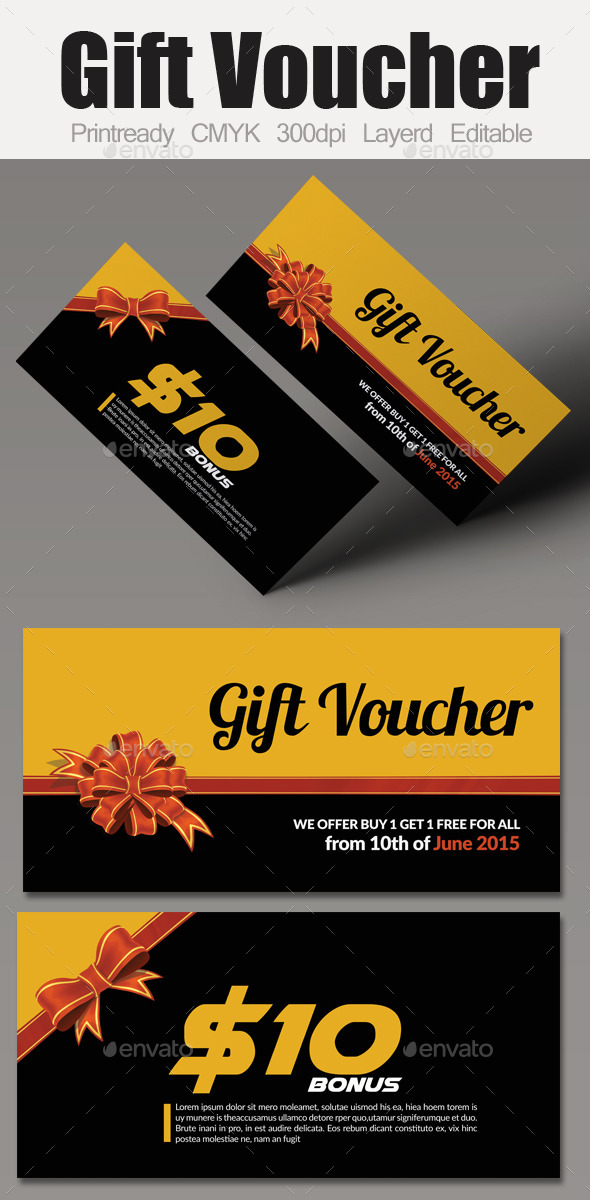 GraphicRiver Multi Use Business Gift Voucher 10010955