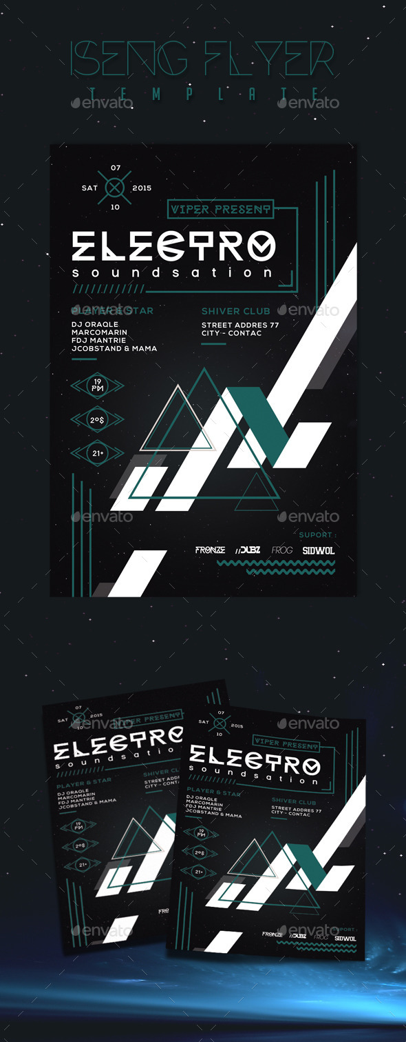 GraphicRiver Iseng Flyer Template 10010963