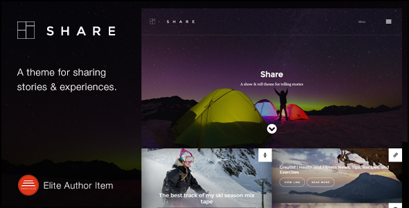 ThemeForest Share A theme for sharing stories and experiences 10010999