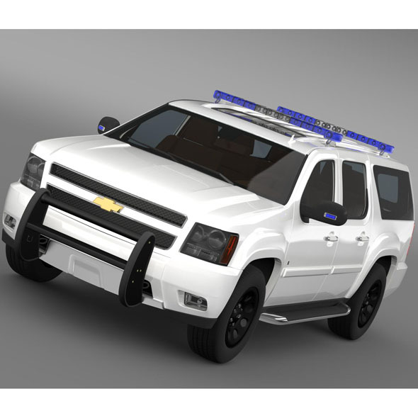 Chevrolet Suburban Z71 Police - 3DOcean Item for Sale