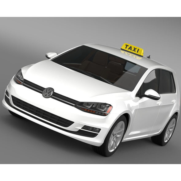 Volkswagen Golf TSI Taxi - 3DOcean Item for Sale