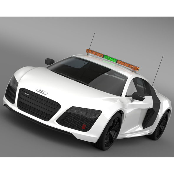 3DOcean Audi R8 V10plus Safety Car 10011054