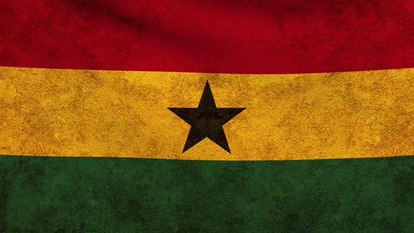 Ghana Flag 2 Pack Grunge and Retro