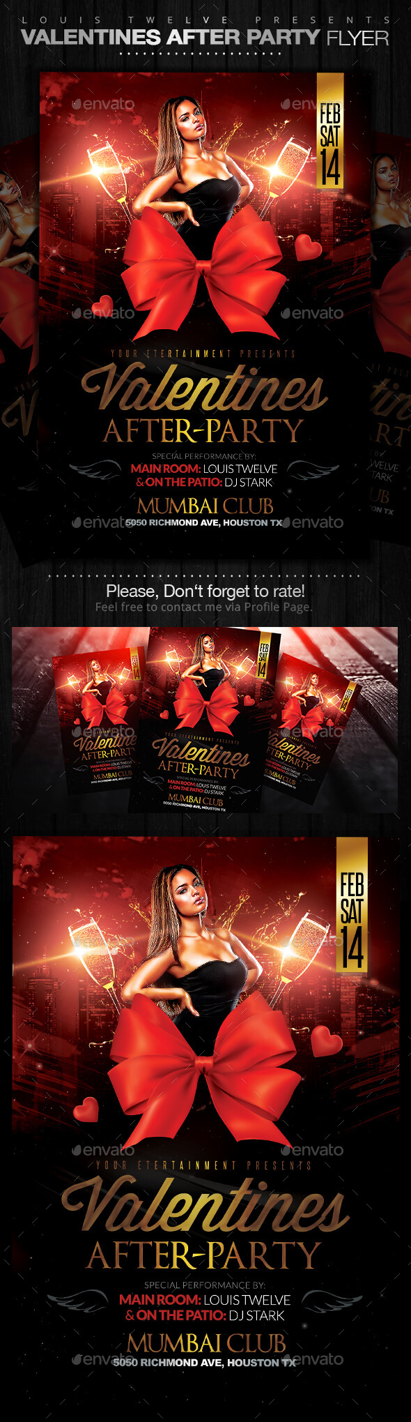 GraphicRiver Valentines After Party Flyer Template 10011160