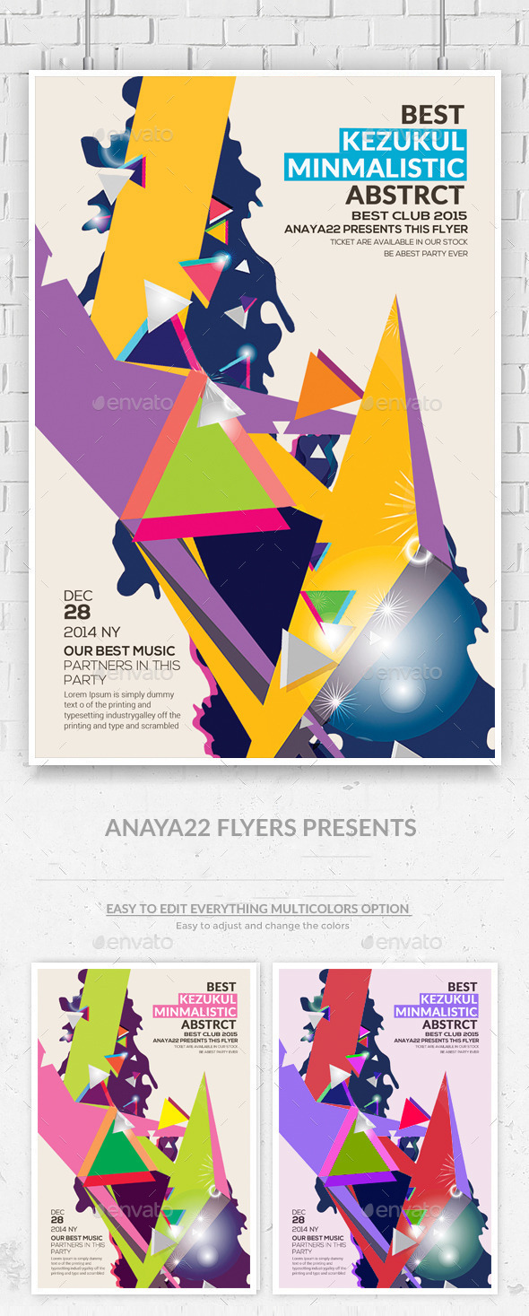 GraphicRiver Minimal Abstract Flyer Templates 10011162