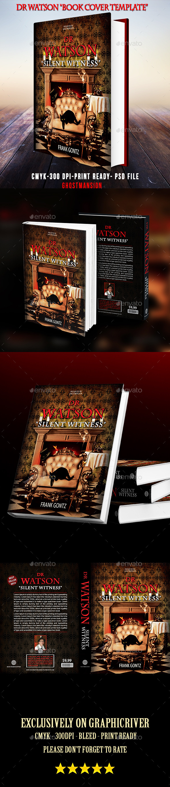 Book Cover Template PSD V2